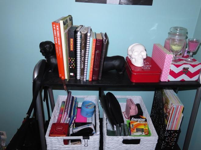 desk, office area