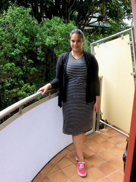 aussie curves, stripes, ootd, outfit post