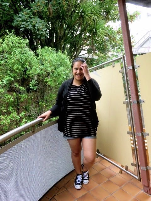 aussie curves, ootd, stripes, outfit post