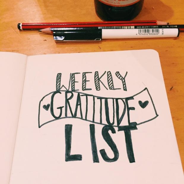weekly gratitude list